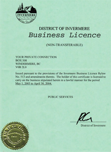 Business License 2003/04