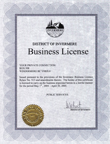 Business License 2004/05