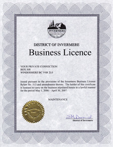 Business License 2006/07